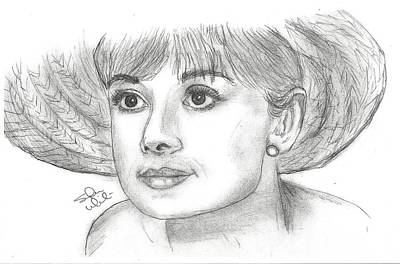 Steven White Drawing - Audrey Hepburn Smile by Steven White