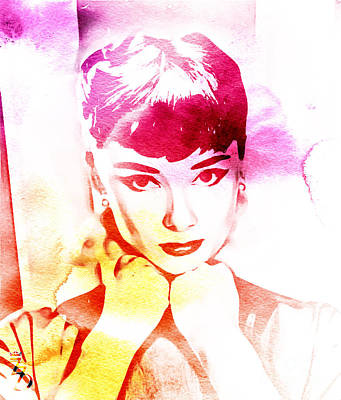 Kathleen Digital Art - Audrey Hepburn by The DigArtisT