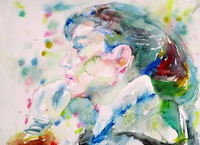 Audrey Hepburn - Watercolor Portrait.20 Original by Fabrizio Cassetta