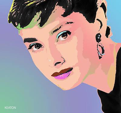 Digital Art - Audrey by John Keaton