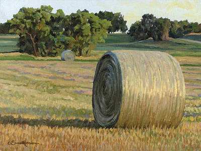 Bales Painting - August Bales by Bruce Morrison