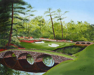 Augusta Painting - Augusta Golf Course by Kimber  Butler