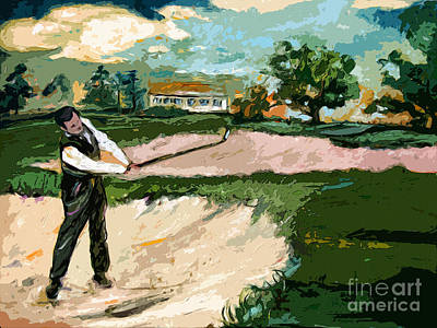 Augusta National Bobby Jones Vintage Golf Print by Ginette Callaway