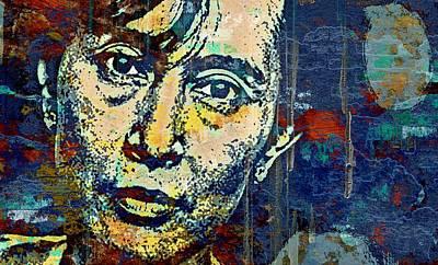 Burmese Python Mixed Media - Aung San Suu Kyi by Otis Porritt