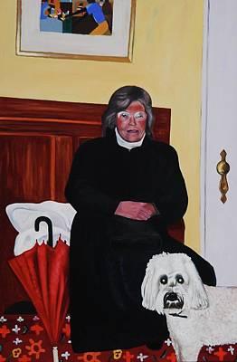 Aunt Fern With Roxie Original by Lynda Diamond