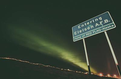 Aurora Borealis Over Eielson A F B Print by Mountain Dreams