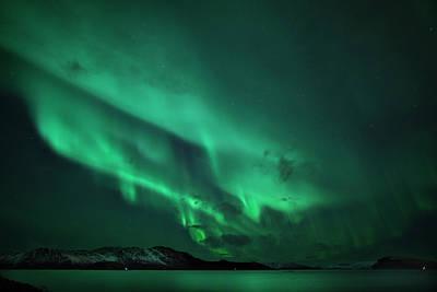 Landscape In Norway Photograph - Aurora Over Seiland by Espen Ørud