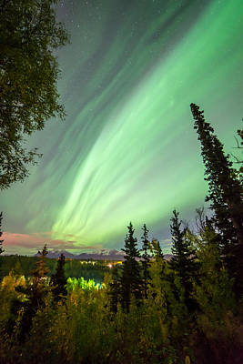 Landscape Photograph - Auroral Lines Of Departure by Ron Day
