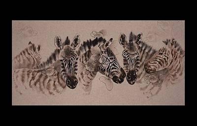 Composite Painting - Auspicious Eternal Life by Pinyu Chen
