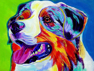 Australian Shepherd Painting - Aussie by Alicia VanNoy Call