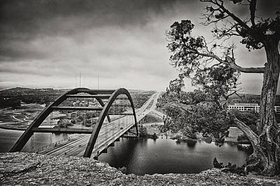 Austin 360 Bridge In Early Dawn Print by Lisa  Spencer