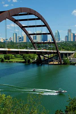 Austin Skyline Painting - Austin 360 Skyline by Doug LaRue