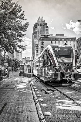 Austin Photograph - Austin City Rail In Black And White by Tod and Cynthia Grubbs