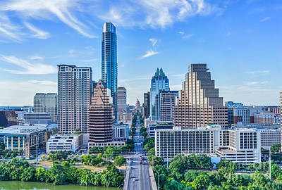 Austin Photograph - Austin Cityscape From Above by Tod and Cynthia Grubbs