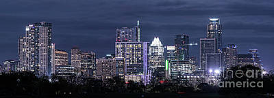 City Scenes Photograph - Austin Downtown Pano by Tod and Cynthia Grubbs