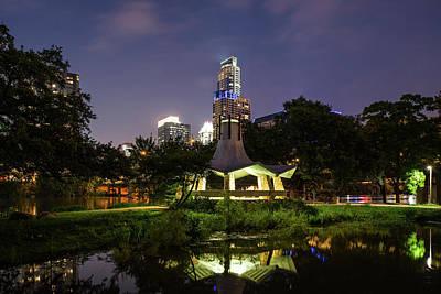 Austin Skyline Photograph - Gazebo After Dark by Tod and Cynthia Grubbs