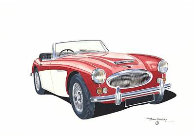 British Classic Cars Painting - Austin-healey 3000 by John Kinsley