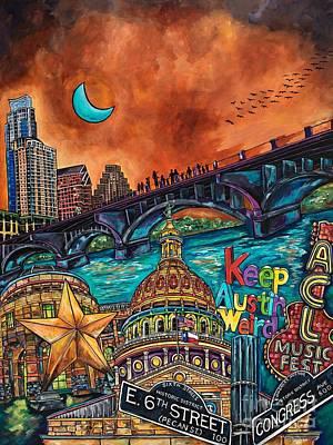 Austin Keeping It Weird Print by Patti Schermerhorn