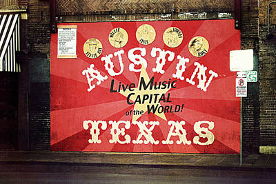 Mural Photograph - Austin Live Music by Trish Mistric
