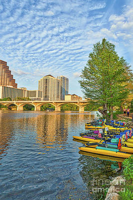 Austin Photograph - Austin Paddle Boats by Tod and Cynthia Grubbs