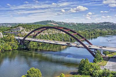 Austin Pennybacker Bridge Print by Tod and Cynthia Grubbs