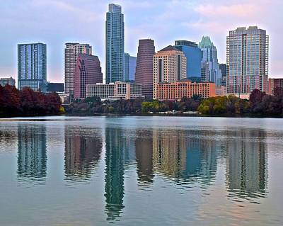 Austin Reflects In 2016 Print by Frozen in Time Fine Art Photography