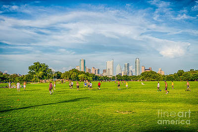 Cityscape Photograph - Austin Skyline From Zilker Park by Tod and Cynthia Grubbs