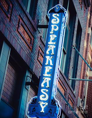 Photograph - Austin Speakeasy Neon by Sonja Quintero