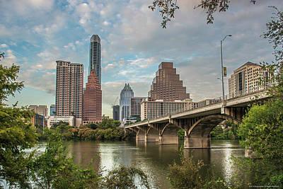 Austin Skyline Painting - Austin, Texas Ladybird Lake by Doug LaRue
