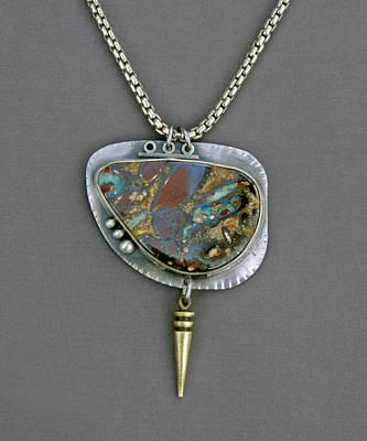 Sterling Silver Pendants Jewelry - Australian Boulder Opal by Mirinda Kossoff