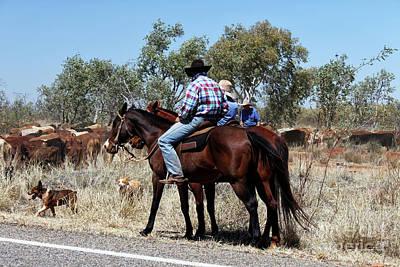 Australian Cowboys Print by Christian Hallweger