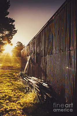 Australian Rural Farm Shed In Waratah Tasmania Print by Jorgo Photography - Wall Art Gallery