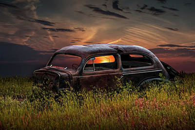 Left To Rust Print by Randall Nyhof