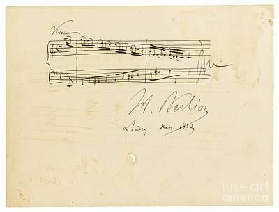 Autograph Painting - Autograph Album-leaf For Douard Silas by Celestial Images