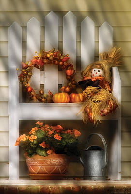 Autumn - Still Life - Symbols Of Autumn  Print by Mike Savad