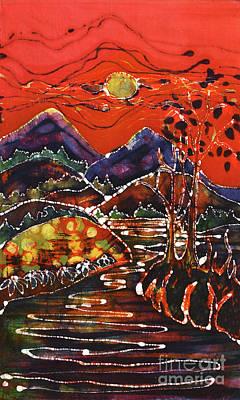 Autumn Adirondack Sunset Print by Carol Law Conklin