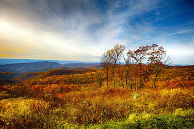 Smokey Mountain Drive Photograph - Autumn Afternoon by Renee Sullivan