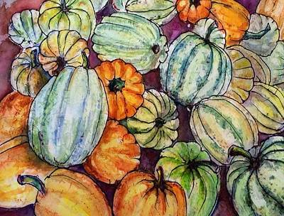 Autumn At Beth's Farmstand Print by Gloria Avner