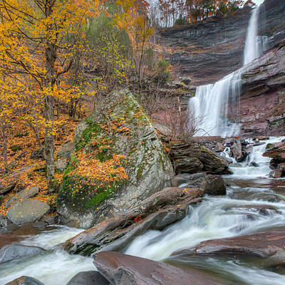 Autumn Photograph - Autumn At Kaaterskill Falls Square by Bill Wakeley