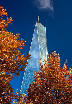 Autumn At One Wtc Print by Rick Berk