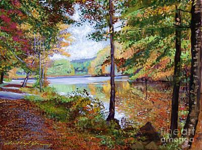 Nostalgia Painting - Autumn At Rockefeller Park  by David Lloyd Glover