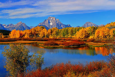 Autumn At The Oxbow Print by Greg Norrell