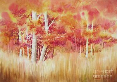 Autumn Blaze Print by Deborah Ronglien