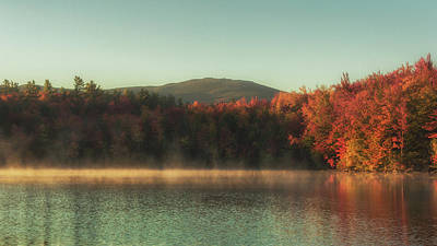 Autumn By The Mountain Lake Print by Chris Fletcher