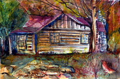 Autumn Cabin Print by Mindy Newman