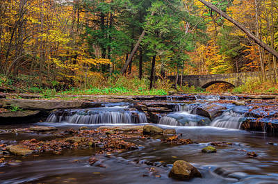 Wolf Creek Photograph - Autumn Cascades by Mark Papke