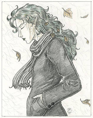 Autumn Dryad Print by Brandy Woods