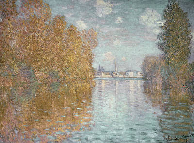Autumn Effect At Argenteuil Print by Claude Monet