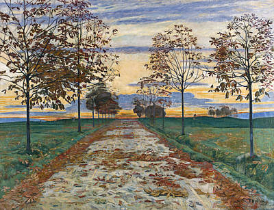 Ferdinand Hodler Painting - Autumn Evening by Ferdinand Hodler