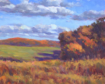 Autumn Fields Print by Michael Camp